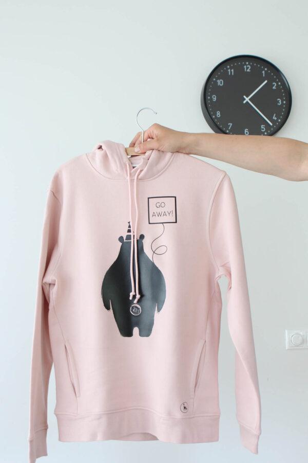 pink hoodie go away