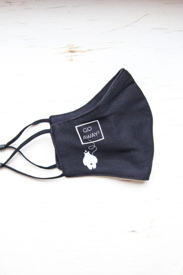 Black GIraffe mask. away
