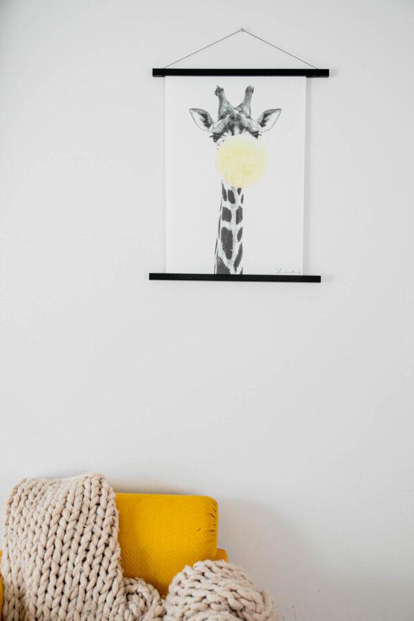 Black GIraffe puidust hanger giraffe